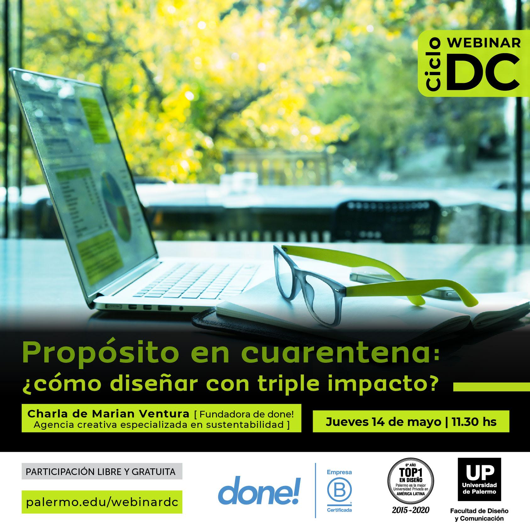 """Webinar """"Propósito en Cuarentena"""" organizado por la UP"""